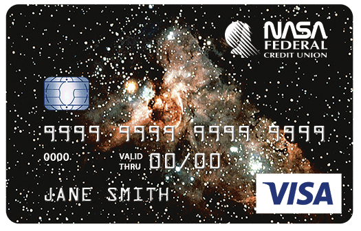 Classic Credit Card with Galaxy Graphic