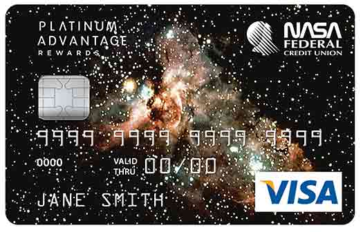 VISA Platinum Advantage Rewards Card with Galaxy Graphic