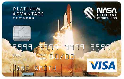 VISA Platinum Advantage Rewards Card with Shuttle Graphic
