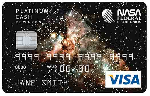 Platinum Cash Rewards Credit Card with Galaxy graphic