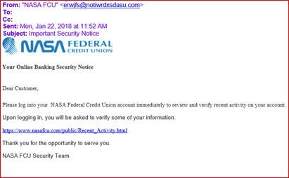 picture of phishing e-mail example