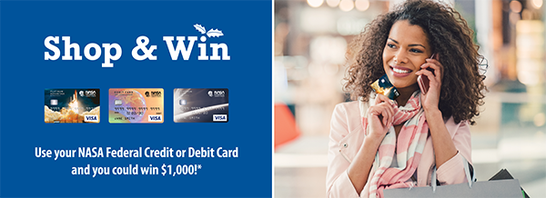 Use your NASA Federal card and you could win $1,000